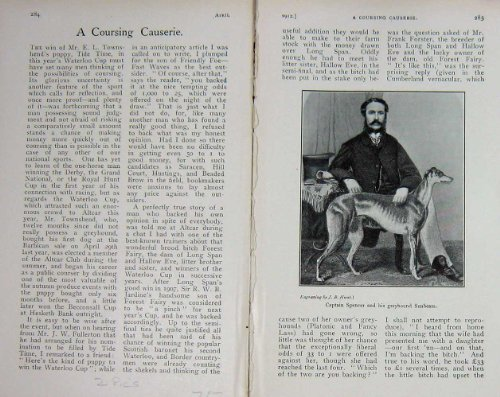 Una Pannocchia di 1912 Capitani Spencer Greyhound Dog Sunbeam (Greyhound Dog Stampa)