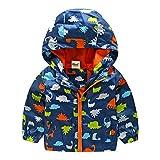 CHIC-CHIC Vest Manteau Garçon Fille Bébé Enfant Sweat-shirt Capuche Blouson Motif Animal Pull-over Longue Manche Déguisement Mignon Bleu 18-24mois