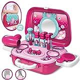 Dreamon Rollenspiel Spielzeug Schminkset kinderfön 2 in 1 Set mit Vielen Zubehör für Mädchen Prinzessin 3 Jahre alt