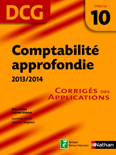 Comptabilité approfondie 2013 - 2014