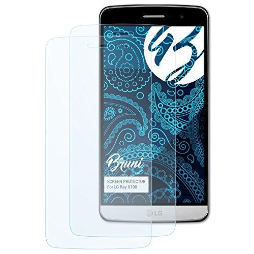 Bruni Schutzfolie für LG Ray X190 / Zone Folie, glasklare Bildschirmschutzfolie (2X)