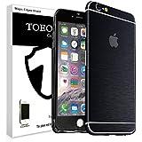Metal pulido Full Body Skin adhesivo Vinilo de aluminio para para iPhone, polvo–resistente al agua–oilproof y huellas evitar, negro, for iPhone 6 Plus/6S Plus