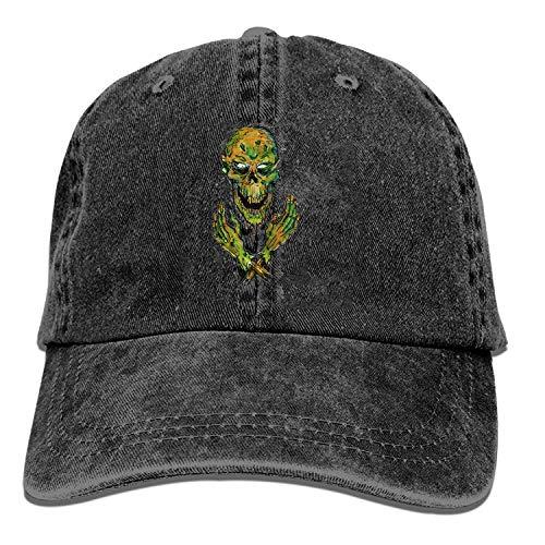 Nigmfgvnr Black Baseball Cap-Zombie T Trucker Hat Washed Cotton Vintage Adjustable Dad Hat