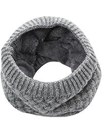 BZLine Femme Hiver Chaud Cache-Col Coton Écharpe Tube Foulard Couleur Unie 19096f756e4