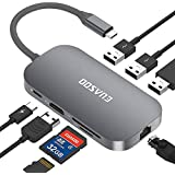 EUASOO Hub USB C, Tipo C 9 Porte con Porta Ethernet, USB C 4K Uscita HDMI, 2 Porte USB 3.0, 1 Porta USB 2.0, Lettore SD/TF,Tipo C per Ricarica,Portatile per Mac PRO Portatili di Tipo C