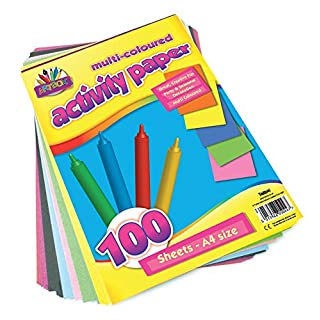 ArtBox A4 Activity Paper - Assorted Colours (Pack of 100 Sheets)