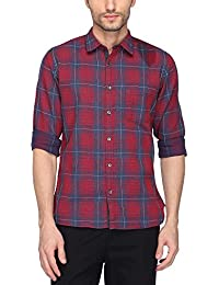 Pepe Jeans Men's Checkered Slim Fit Casual Shirt