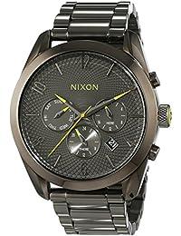 Nixon Damen-Armbanduhr Bullet Gunmetal Chronograph Quarz Edelstahl A366131-00