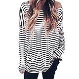 ♫♫ Amlaiworld Coole Mode Locker Langarmshirts Damen Outdoor Gemütlich Sweatshirt Mode weich Elegant Oberteile gestreift drucken Freizeit Pullover
