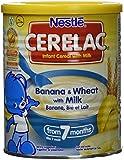 CERELAC Banane/Blé/Lait Dès 7 Mois Halal 400 g - Lot de 6