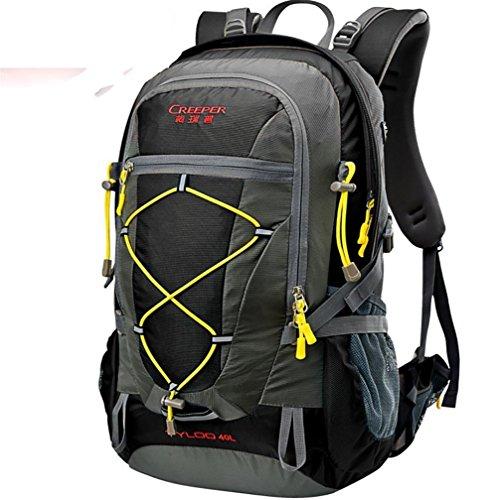 ROBAG Wandern Outdoor Rucksack ultra leichten 40L Reiten tragen Schulter-Travel Tour Tasche Regenhülle black 40 litres