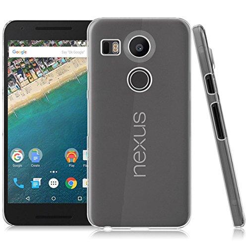 LONVIPI® Funda Nexus 5X 2015, [CRYSTAL VIEW] Choque Absorcion Cubierta de parachoques y Proteccion gota Prima Clear Trasero - LONVIPI®