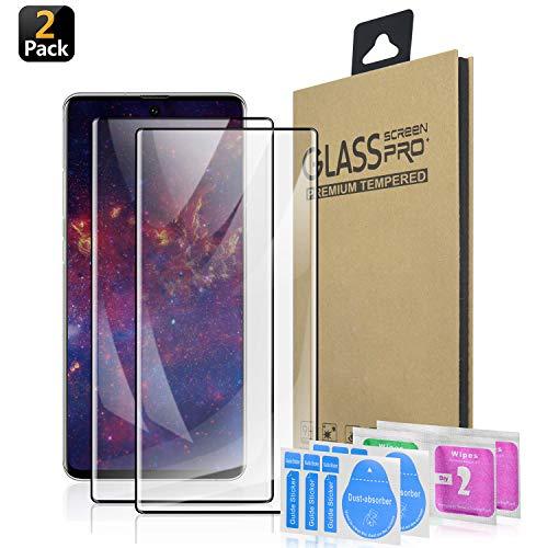 SQMCase Galaxy Note 10 Pro Protection d'écran Ecran Verre Trempé, [HD Clear] [sans Bulles] [Anti-Rayures] [Adapté aux Étuis] Film en...