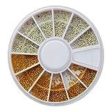 Schachtel mit 12 Farben Nagelperlen Deko Strohhalme mit Schachtel #129