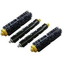 Pack de 2. Kit de Cepillos: Cepillo de cerdas y Cepillo de goma de repuesto para iRobot Roomba de las series 600 y 700 (a excepción de 645 y 655). Producto genuino de Green Label
