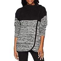 Hanomes Damen Pullover,Damen Rundhalsausschnitt Pullover Two Tone Patchwork Sweatshirt Tunika Casual Lose Unregelmäßige... preisvergleich bei billige-tabletten.eu