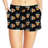 Valencia FC Shorts De Baño Mujer Bañador Short Deportes Acuáticos Shorts De Natación Secado Rápido Bañador De Pantalon Cortos con Cordón