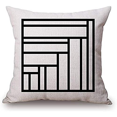 Eunice Cowper Dekorative Baumwolle Canvas Square Throw Pillow Cover Kissen Fall schwarz und weiß Streifen werfen Kissenbezug mit verstecktem Reißverschluss -