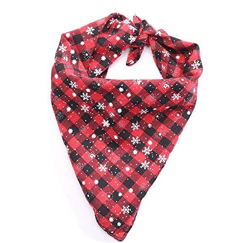 ZTMN Pullover Hund Weihnachten Schneeflocke Haustier Speichel Handtuch Dreieck Handtuch Hund Lätzchen Double Laminating Line Pet Holiday Supplies. Kleidung für Hunde (Farbe: Rot, Größe: S) (Double Date Kostüm)