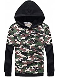 Autumn And Winter Men 'S Clothing Hooded Sweater Camouflage Long Sleeves Two Pieces Hoodies