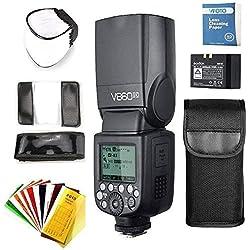 Godox V860II-C TTL Flash pour Canon EOS Caméra, 2.4G HSS Haute Vitesse 1/8000s sans Fil Appareil Photo avec Haute Performance pour Canon 6D 7D 50D 60D 500D 550D 600D 650D 1000D 1100D 1DX 580EX etc
