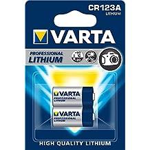 Varta CR123A - Pack de 2 pilas (Litio, 3V, 1480 mAh)