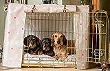 Universal Hund Kiste oder Käfig Bezug Clarke & Clarke Wachstuch taupe multi-spot von Lords & Labrador