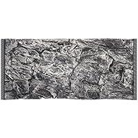 Acuami acuario decorativo fondo 3D, Rock Grey, Tamaño 100 x 50 cm, dimensiones de montaje 97 x 45 cm