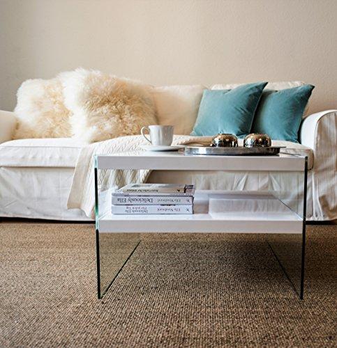 Glass Oak Coffee Table Uk: BonVIVO® Designer Coffee Table VICTORIA, Side Table In