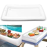 Climberty Inflatable Pool Table Serving Bar - Large Buffet Tray Server With Drain Plug - Keep Your Salads & Beverages Ice Cold - For Parties Indoor & Outdoor use Bar Party Accessories