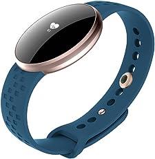 KAUO Smart Watch Damen Bluetooth Fitness-Tracker B16 Intelligente Uhr Herzfrequenz-Überwachung Schlafüberwachung Informationen erhalten IP67 wasserdicht Kompatibel mit Android und IOS