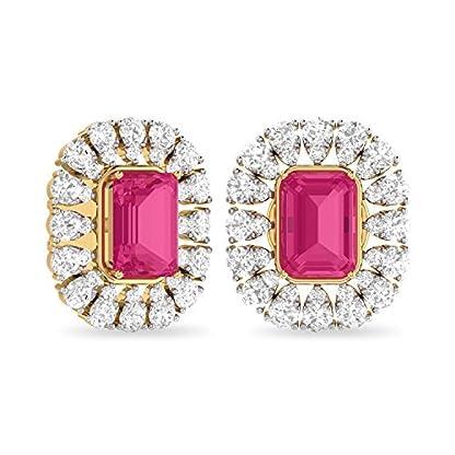PC Jeweller The Prova 18KT Yellow Gold, Diamond & Gemstone Earring