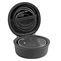 Geekria Hard Carrying Case for Amazon Echo Dot 2nd Generation, mini Headphone Case / Hard Carrying Case / Travel Bag with Space for Cable, Parts and Accessories