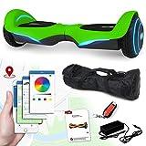 Balance Scooter Vision 800 Watt mit App Funktion, beleuchtete Felgen mit RGB-LED Farbwechsel, Bluetooth Lautsprecher, Kinder Sicherheitsmodus Elektro Self Balance E-Scooter (grün)