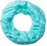 styleBREAKER Punkte Muster Loop Schlauchschal, seidig leicht, Tuch, Damen 01016111, Farbe:Türkis-Weiß