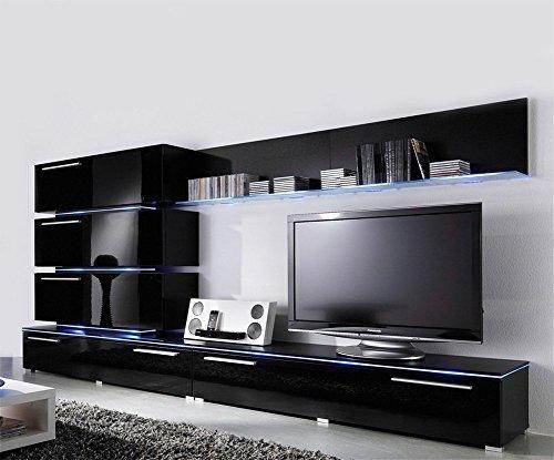 Concept Muebles Liren U2013 Moderne Wohnwand/Europäische Entertainment  Center/Design Möbel Mit LED Lichtern Modern Medium Schwarz