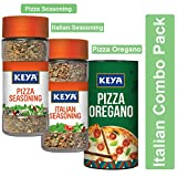 #3: Keya Italian Combo Pack - Italian Pizza Oregano 80G, Italian Seasoning 35G, Pizza Seasoning 45G