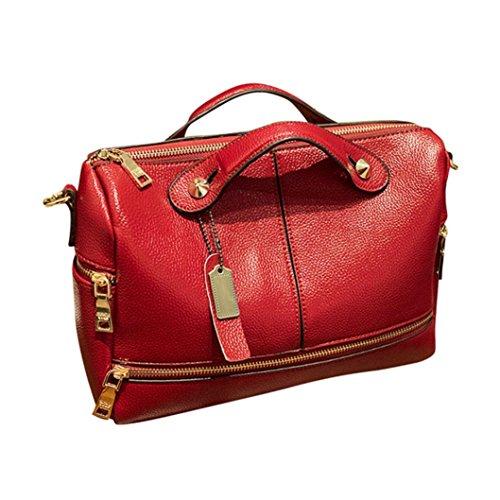 Morwind donna borsetta messenger tote borse famoso di alta qualità spalla borsa moda nuovi piccola tracolla donna borse messaggero tracolla elegante (rosso)