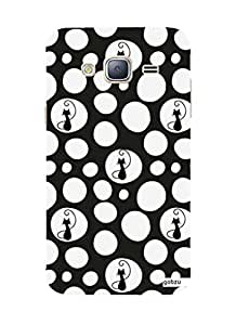 Gobzu Printed Hard Case Back Cover for Samsung J3 2016 - Bond Cats