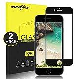 NONZERS Protector de Pantalla para iPhone 6 Plus/iPhone 6S Plus Cristal Vidrio Templado, [2 Unidades] [9H Dureza] [2.5D Round Edge] Cristal Templado Compatible con 3D Touch - Negro