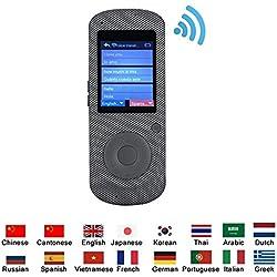 VBESTLIFE Multilingüe Traductor de Voz Portátil Inteligente,Hable en Tiempo Real,Conexión Inalámbrica WIF Traducción en Línea,para Viajar con 16 Idiomas