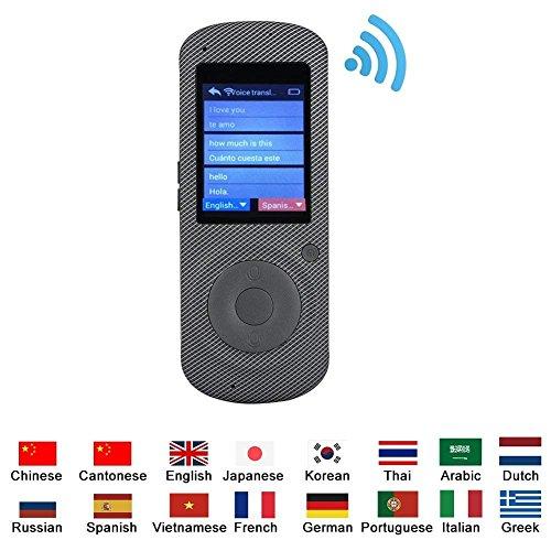 VBESTLIFE 37 Sprachen Translator,intelligenter Sprachübersetzer der Realzeit Wifi Reiseübersetzer Gerät für Reisen, Einkaufen,Unterhaltung, Lernen