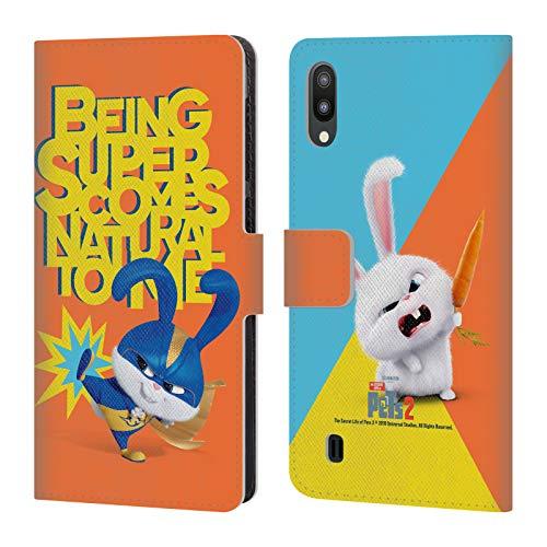 Kostüm Daisy Duke - Head Case Designs Offizielle The Secret Life of Pets 2 Snowball Kaninchen Kostuem II for Pet's Sake Leder Brieftaschen Huelle kompatibel mit Samsung Galaxy M10 (2019)