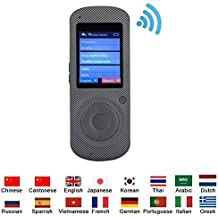 VBESTLIFE Multilingüe Traductor de Voz Portátil Inteligente,Hable en Tiempo Real,Conexión Inalámbrica WIF