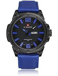 Gokelly NAVIFORCE relojes suizos Relojes de deportes de los hombres de material de 30 m resistente al agua - reloj de pulsera correa de Nylon de color azul