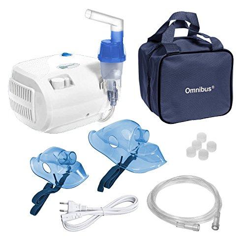 Omnibus BR-CN116B - Nuevo inhalador compresor Nebulizador Inhalador compacto para nebulizador inhaladores bebe electrico, Blanco