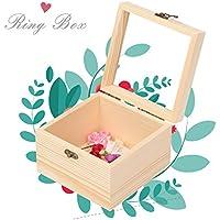 Preisvergleich für Delaman Holzkiste Wiederverwendbare Holzkiste, für Geschenk, Ring, Schmuck Lagerung, 20 * 20 * 9 cm