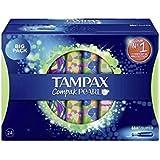 Tampax compak tampon pearl super / lot de 2 boîtes de 24