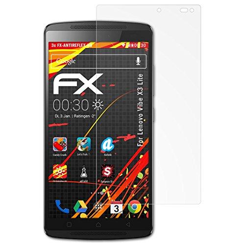 atFolix Schutzfolie kompatibel mit Lenovo Vibe X3 Lite / K4 Note Bildschirmschutzfolie, HD-Entspiegelung FX Folie (3X)