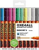 Molotow Acryl Marker One4All 127HS (Basic-Set 3 mit 10 kräftigen Acrylfarben, 2mm Spitze, hochdeckend und permanent, UV-Beständig, für fast alle Untergründe)
